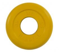 Диск обрезиненный 26 мм 0,5 кг желтый MB Barbell MB-PltC26-0,5