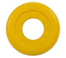 Диск обрезиненный 50 мм 1,25 кг желтый MB Barbell MB-PltC51-1.25