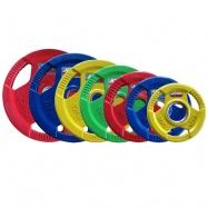 Набор обрезиненных дисков JOHNS цветн. 3-х хват. обрезин. d51мм от 1,25 кг до 25 кг