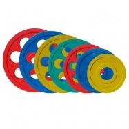 Комплект олимпийских дисков JOHNS цветн. 7-ми хват. обрезин. d51мм. от 1,25 кг до 25 кг