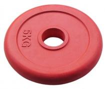 Олимпийский блин JOHNS d51 мм цветной обрезиненный, 5 кг