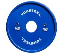 Диск тренировочный цветной 2 кг Yousteel