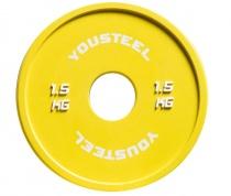 Диск тренировочный цветной 1,5 кг Yousteel