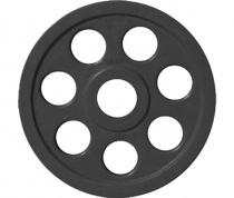 Диск JOHNS обрезиненный 5кг., d51мм., черный