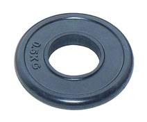 Диск олимпийский JOHNS d51 мм черный обрезиненный, 5 кг
