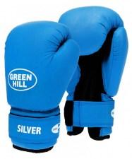 Перчатки боксерские SILVER BGS-2039, 8oz, к/з, синий