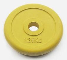 Блин металлический JOHNS d26 мм цветной обрезиненный, 1,25 кг