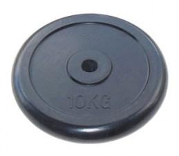 Диск диаметром 26 мм JOHNS черн. обрезиненный, 10 кг