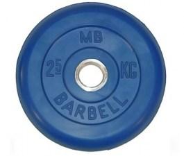 Диск обрезиненный 26 мм 2,5 кг синий MB Barbell MB-PltC26-2,5