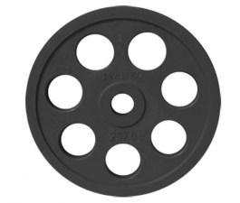 Обрезиненный диск с 7-ю хватами  51 мм 10 кг черный
