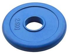 Диск для олимпийской штанги JOHNS d51 мм цветной обрезиненный, 2.5 кг