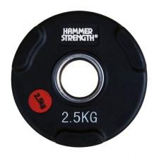 PANGOLIN WP074B - Диск олимпийский обрезиненный черный, номинал веса 2.5 кг