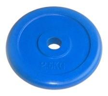 Блин 26 мм JOHNS цветной обрезиненный, 2,5 кг