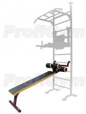 Скамья для пресса навесная на гимнастическую стенку PG400-GР