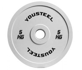 Диск каучуковый цветной 5 кг Yousteel