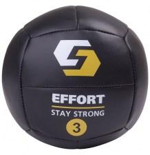 Мяч медицинбол EMD3, кожзам, 3 кг, черный