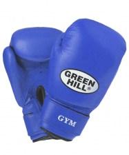 Перчатки боксерские GYM синие BGG-2018, 8oz, кожа, синие