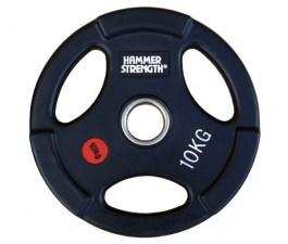 PANGOLIN WP088 - Диск олимпийский обрезиненный черный, с двумя хватами, номинал веса 10 кг