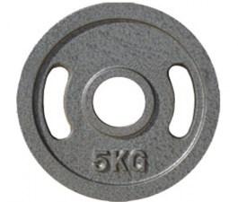 Диск для штанги для пауэрлифтинга JOHNS металлический, d51мм. 5 кг., серый