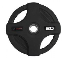 PANGOLIN WP088 - Диск олимпийский обрезиненный черный, с двумя хватами, номинал веса 20 кг