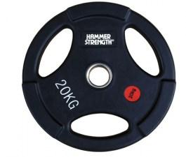 PANGOLIN WP074B - Диск олимпийский обрезиненный черный, с 3-мя хватами, номинал веса 20 кг