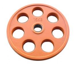 Диск JOHNS обрезиненный 15кг., d51мм., оранжевый
