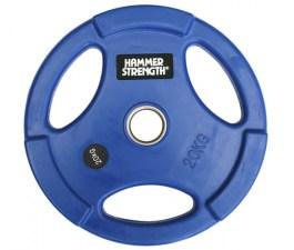 PANGOLIN WP074 - Диск олимпийский обрезиненный цветной, с 3-мя хватами, номинал веса 20 кг