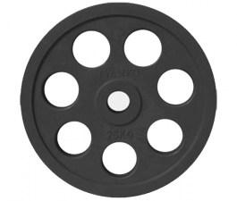 Диск JOHNS обрезиненный 25кг., d51мм., черный