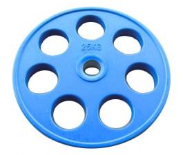 Диск JOHNS обрезиненный 25кг., d51мм., синий