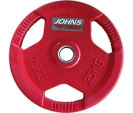 Обрезиненный диск с тройным хватом 51 мм 25 кг цветной J-915125C