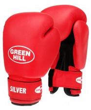 Перчатки боксерские SILVER BGS-2039, 12oz, к/з, красный