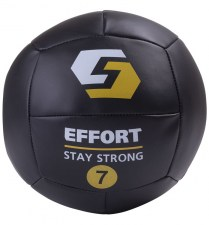 Медицинский мяч EMD7, кожзам, 7 кг, черный