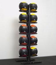 Стойка для медболов напольная двухсторонняя на 10 шт