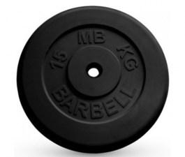 Диск обрезиненный, черного цвета 26 мм MB Barbell MB-PltB26-15