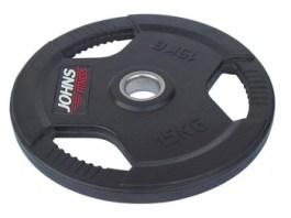Обрезиненный диск с тройным хватом 51 мм 25 кг цветной J-915115B