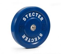 Каучуковый тренировочный диск 20 кг (синий)