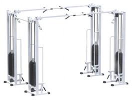AR082.4х100 Двойной кроссовер на базе реабилитационной рамы (стек 2х100 кг)