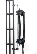Тренажер для кроссфита канатный, Двойная бочка с регулировочной стойкой + канат (20м)