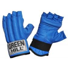 Перчатки снарядные ROYAL CMR-2076, шингарды, кожа, синие в ассортименте