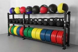 Стеллаж для медболов и спортивного инвентаря 2900-1160 (цв. черный)