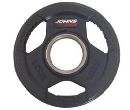 Обрезиненный диск с тройным хватом 51 мм 1,25 кг черный J-9151125B