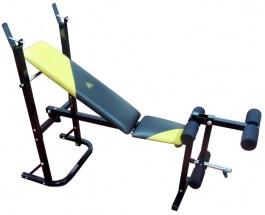 Многофункциональная скамья со стойкой для жима штанги DFC D210