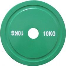Диск стальной 10 кг зеленый DHS для пауэрлифтинга