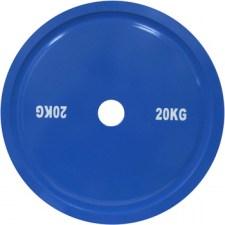 Стальной диск для пауэрлифтинга 20 кг синий DHS