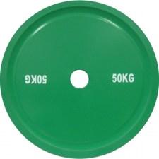 Диск стальной 50 кг зеленый DHS для пауэрлифтинга