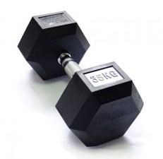 Гантель 35 кг гексагональная