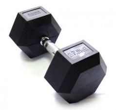 Гексагональная гантель 27,5 кг неразборная