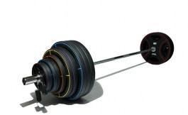 Штанга олимпийская 225 кг (диски-TPU)