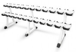 Полка для хранения профессиональных гантелей на 12 пар МВ Барбел MB 1.18