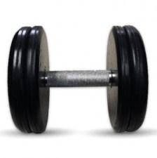 """Гантель черная """"Классик"""" 20 кг МВ Barbell MB-FdbEM-B20"""